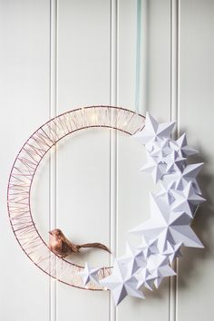 Paper stars Christmas wreath by Live it. Love it. Make it.