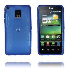 Storm (Blå) LG Optimus 2X Deksel Phone, Cover, Telephone, Blankets, Mobile Phones