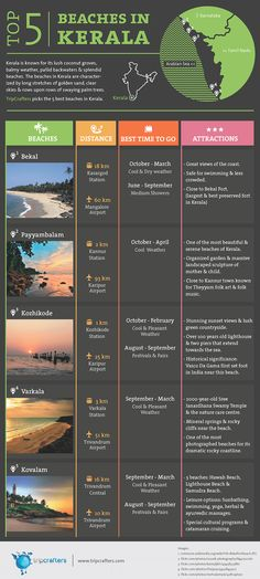5 Top Beaches in Kerala [Free Infographic]