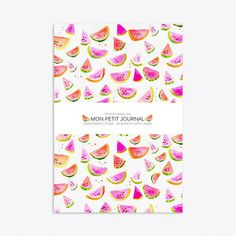 Watermelon Notebook A6 (135 SEK) ❤ liked on Polyvore featuring home, home decor, stationery and notebooks