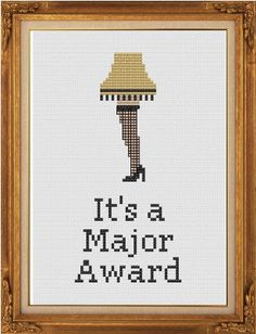 Christmas Story cross stitch