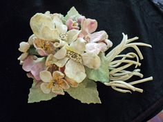 Incredible Bunch of Vintage Velvet Apple Blossoms Millinery Flowers