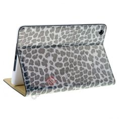 Good Leopard Leather Stand Case Cover For iPad Mini - Black US$12.98