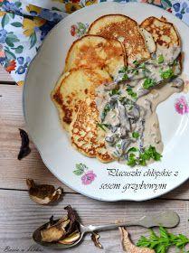placuszki chłopskie z sosem grzybowym Polish Recipes, Polish Food, Baked Potato, Quiche, Baking, Dinner, Breakfast, Ethnic Recipes, Dining