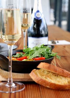 Welcome your Sunday with something delicious! Bring the family and friends around for a tasty locally sourced Sunday brunch and receive a complimentary glass of Joie De Vivre MCC. Available every Sunday - Delicious Food, Tasty, Sunday Brunch, Alcoholic Drinks, Friends, Glass, Joy, Alcoholic Beverages, Drinkware