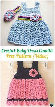 Crochet Baby Dress Camille FreePattern - Crochet Girls Dress Free Patterns