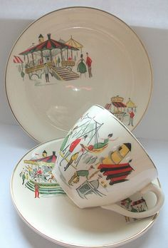 Pottery, Porcelain & Glass Pottery Smart Alfred Meakin Vintage Pin Dishes Willow Pattern Jade White