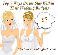 How to Stay Within your Wedding Budget