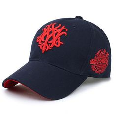 Men Women Embroidered Letter Mixed-Color Baseball Cap Outdoor Peaked Cap