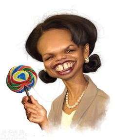Celebrity Caricatures - Condoleezza Rice