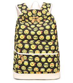 Extra Off Coupon So Cheap Canvas Emoji Backpack for Kids Girls Boys cd3d84ffe8c7b