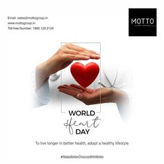 To live longer in better health, adopt a healthy lifestyle Happy World Heart Day..! #Motto #Tiles #mottogroup #Ceramic #FloorTiles #slabtiles #CeramicTiles #CeramicTile #SlabTile #Slab #Tile #Marbles #MarblePlus #worldheartday2021 #WorlHeartDay #HeartDay #healthyheart #Heart #health World Heart Day, International Day, Live Long, Motto, Health And Wellness, Healthy Lifestyle, Adoption, Free, Foster Care Adoption