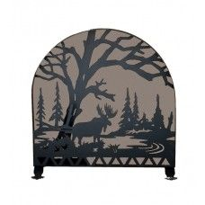 30 Wide X 30 High Moose Creek Arched Fireplace Screen - #28735