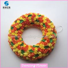 Wholesale Flower Wreath Decorations Christmas Wreath (GFOH-01)