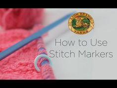 How to Use a Stitch Marker and Why They're Useful in Knit & Crochet •keep track of your stitch count (place them between every stitch repeat in a lace or cable pattern!) •mark mistakes that need fixing (split ring markers work best for this) •indicate the beginnings of the round on in-the-round projects