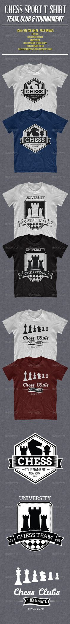 b1a61dba Chess Sport for Tournament, Team and Club T-Shirt - 100 Vector (in