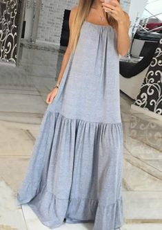 Buy plus size linen dresses and Sleeveless dress, sleeveless sundress, linen dress Short Beach Dresses, Long Summer Dresses, Summer Outfits, Dress Summer, Petite Dresses, Linen Dresses, Casual Dresses, Dresses Dresses, Dresses Online