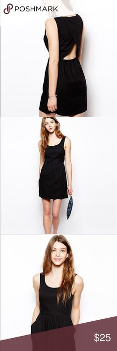 Jack Wills Little Black Dress Perfect summer mini! Open back with pockets. Size 2 (UK 6). Jack Wills Dresses Mini