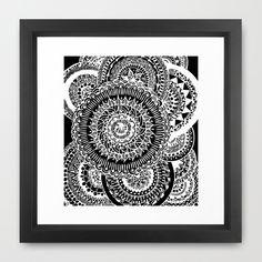 Mandala Explosion  Framed Art Print