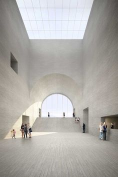 "pickledesign: "" Visualisation for the new Museum of Fine Arts in the city of Lausanne, Switzerland by Barcelona-based architects Estudio Barozzi Veiga. Museum Architecture, Space Architecture, Architecture Drawings, Amazing Architecture, Contemporary Architecture, Lausanne, Built Environment, Museum Of Fine Arts, Photomontage"