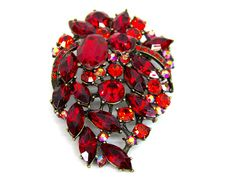 Red Gemstone Broach