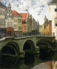 Dijle bridge - in Mechelen ( ca. 1919 ) by Louis Dewis - Mechelen - Wikipedia, the free encyclopedia