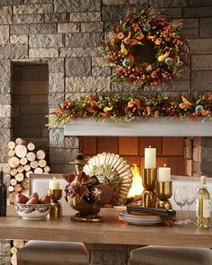 Shop Autumn Harvest Garland at Horchow, where you'll find new lower shipping on hundreds of home furnishings and gifts. Rustic Fall Decor, Fall Home Decor, Autumn Home, Thanksgiving Decorations, Seasonal Decor, Table Decorations, Thanksgiving 2020, Turkey Table, Fall Leaf Garland