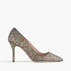 """Our glittery Elsie pumps are a party ready to happen. With a just-right height and a perfectly pointed toe, they're classic and special at the same time. The fact that they're made in Italy is just the icing on the cake. <ul><li>3 1/2"""" heel.</li><li>Glitter fabric upper.</li><li>Leather lining and sole.</li><li>Made in Italy.</li></ul>"""
