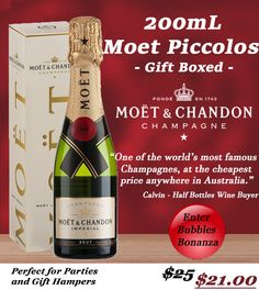 Our Moet Piccolos are the cheapest on the Aussie web! Get them ASAP so we can get them to you before Chrissy!  #moet #minimoet #wine #winelovers #champagne