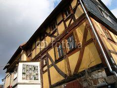 Fachwerkhaus mit Anbau aus den Sechzigerjahren in Salzböden bei Lollar im Gleiberger Land im Landkreis Gießen