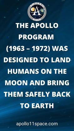 The Apollo Program (1963 – 1972) was designed to land humans on the Moon and safely return them to Earth. #ApolloProgram #NASA #ApolloProject Apollo Program, Air Space, Apollo 11, Space Travel, Space Exploration, Space Crafts, Nasa, Programming, Journey