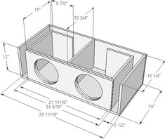 Need help with enclousure design for a pair of sundown audio dual 2 subs - Subwoofers / Enclosures - Car Audio Enthusiast Forum in the world! 12 Inch Subwoofer Box, Custom Subwoofer Box, Diy Subwoofer, Subwoofer Box Design, Speaker Box Design, Sub Box Design, Car Audio Installation, Car Audio Systems, Diy Speakers