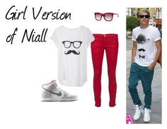 """Girl Version of Niall"" by miranda1122 ❤ liked on Polyvore featuring J Brand, Payne, Marc Jacobs, NIKE, women's clothing, women, female, woman, misses and juniors"