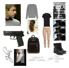 If Olivia was John (she did the quiz got him) {Sherlock} by gmw-mf-hp-dv-hg-sff-ma-fangirl on Polyvore featuring polyvore, fashion, style, Ralph Lauren Black Label, Aéropostale, H&M and JanSport