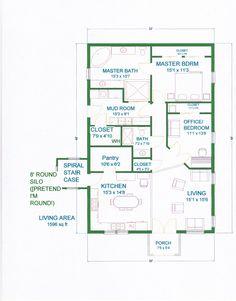 Grama Sue's Floor Plan Play Land: Smaller Gambrel Barn Home With Silo