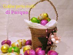Daisy Garden: Cestino rustico di Pasqua porta ovetti fai da te