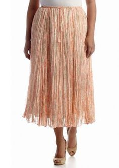 Ruby Rd  Plus Size Moroccan Sands Collection Snake Print Skirt