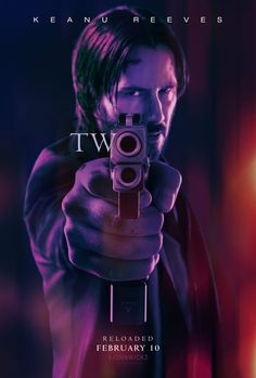 """John Wick Chapter 2 movie poster artwork for the 2017 Keanu Reeves movie """"John Wick John Wick 2 Poster, John Wick 2 Movie, Watch John Wick, John Wick 1, Keanu Reeves John Wick, Keanu Charles Reeves, Film D'action, Film Serie, Man Movies"""