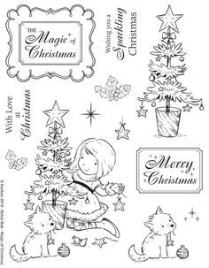 Kanban clear rubber stamps - Christmas - Betsie Bob - Magic of Christmas