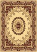 A masterpiece for your floor, created by Rugs America. The New Vision Collection offers traditional Persian and European patterns powerloomed with a dense heat-set poly pile. The perfect accent for your favorite room.