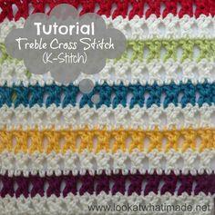 Treble Cross Stitch Crochet Tutorial How to Crochet:  Treble Cross Stitch (K Stitch)