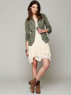 Free People Ruffle Back Twill Jacket at Free People Clothing Boutique