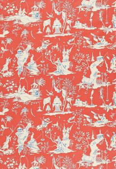 This color is also Mandarin in Schumacher... Is it the same color as Lauren's wallpaper?  Starry Night  Mandarin        Fabric SKU - 172921