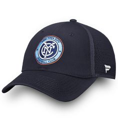 753a1ccac9b Men s New York City FC Fanatics Branded Navy Elevated Core Trucker  Adjustable Snapback Hat