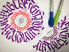 CALLIGRAPHY FRAKTUR • CIRCULAR ALPHABET on Behance