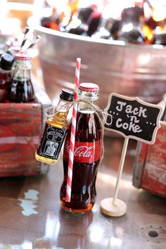 #ShareaCokeContest Jack and Coke wedding favors