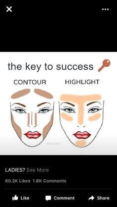 Make-up Just after How To Contour For A More Beautiful You! Makeup 101, Makeup Guide, Love Makeup, Makeup Inspo, Drugstore Makeup, Makeup Goals, Makeup Products, Beauty Products, Contour Makeup
