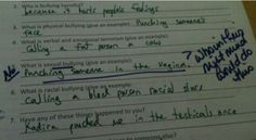 Test Answers Hilarious