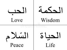 Illustration about Arabic words isolated on white with their meaning in English for tattoos, topics, symbols and illustrations. Tattoo Po, Tattoo Liebe, Wörter Tattoos, Tattoo Fails, Dope Tattoos, Diy Tattoo, Tattoo Arrow, Faith Tattoos, Tattoo Neck