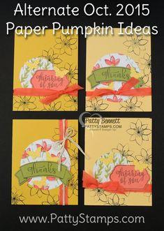 Stampin' UP! October 2015 Paper Pumpkin Cards